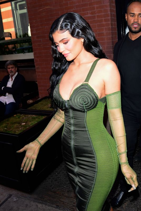 Kylie Jenner Heads to the 72nd annual Parsons Benefit to support Travis Scott in New York
