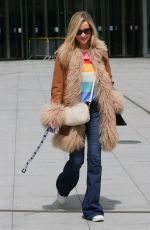 Laura Whitmore Looks chic as she heads out of the BBC studios for the first time after welcoming her baby in London