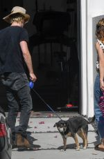 Lily James Visits a friend in Los Angeles