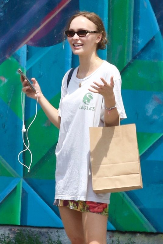 Lily-Rose Depp Out in East Village, New York