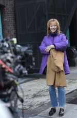 Lisa Kudrow Filming untitled film in New York