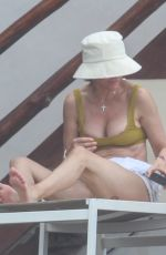 Lisa Rinna And Harry Hamlin join their daughter Delilah Hamlin and her boyfriend Eyal Booker at Tulum resort in Mexico