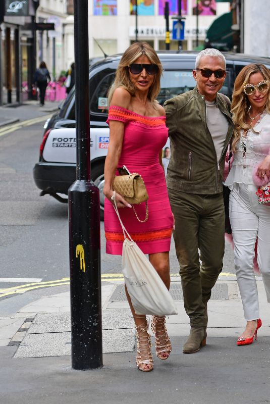 Lizzie Cundy And Bruno Tonioli Are Seen Looking Glamorous As They Attend Charity Event In London