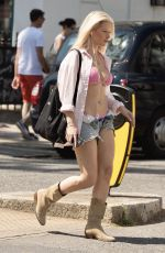 Lottie Moss HOT, HOt, Hot on the hottest day of the year, Sunday Evening in West London