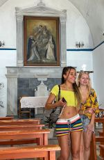 Lottie Moss Pictured out sightseeing with a friend while enjoying their holiday in Mykonos