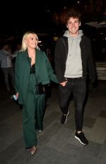 Lucy Fallon Enjoys a night out at Menagerie in Manchester