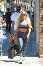 Marcela Iglesias Goes shopping at Saks Fifth Avenue on Rodeo Drive in Beverly Hills