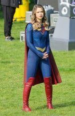 Melissa Benoist Filming the final season of Supergirl in Vancouver