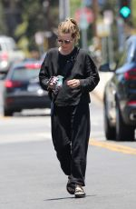 Michelle Pfeiffer Steps out in a comfy black ensemble for a few errands near her home in Brentwood