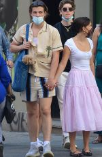Millie Bobby Brown Out and about with boyfriend Jake Bongiovi in New York