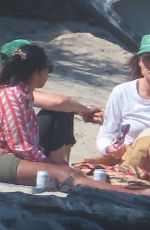 Minnie Driver Pictured enjoying a beach day in Malibu with girlfriends