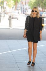 Mollie King Spotted at the BBC Radio One Studios in London