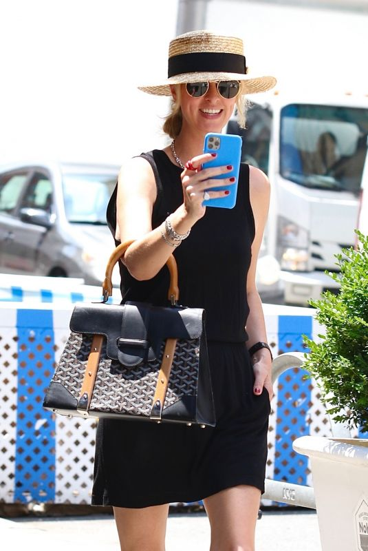 Nicky Hilton Proves a boater hat is always a fashionable choice on a hot day in New York