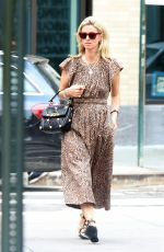 Nicky Hilton Sporting a leopard print dress while braving the heatwave in Downtown Manhattan