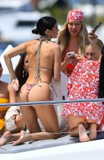 Nicole Williams Enjoys a yacht party with model Shanina Shaik and a bunch of galpals to celebrate the launch of her new swimwear line
