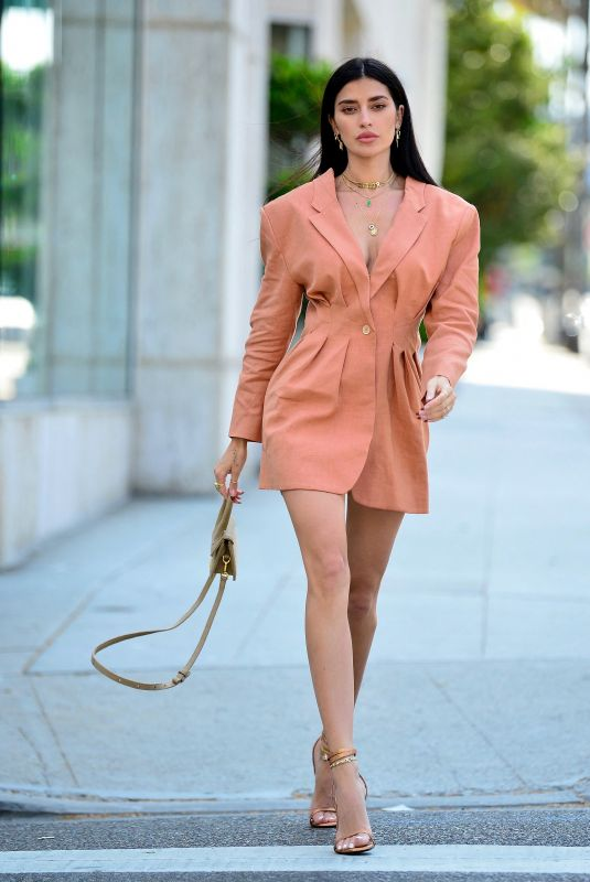 Nicole Williams Leaves little to the imagination as she is seen modeling for Jaquemes in Beverly Hills