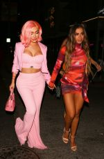 Nikita Dragun and the Brazilian Singer Anitta were seen arriving at The Nice Guy in West Hollywood