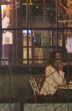 Nina Dobrev ex Grant Mellon shares a passionate kiss with Zita Vass during a Romantic Date at La Boheme in Weho
