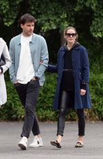 Olivia Palermo And Johannes Huebl Take A Stroll By The River In Brooklyn