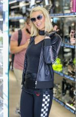 Paris Hilton During a shopping spree on Rodeo Drive in Beverly Hills