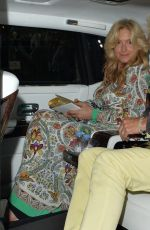 Penny Lancaster Leaving The Ritz hotel after enjoying dinner and drinks to celebrate their wedding anniversary in London