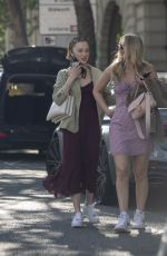 Phoebe Dynevor Out with a friend in London