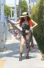 Phoebe Price Displays her famous style while out shopping in Beverly Hills