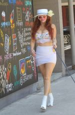 Phoebe Price Takes her dog shopping in Hollywood