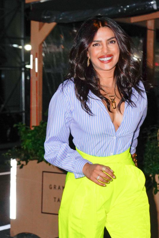 Priyanka Chopra Arrives at the opening of her new Indian restaurant Sona in New York