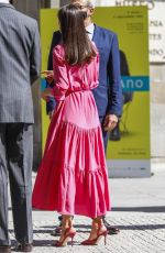 Queen Letizia - Spanish Royals attend the Opening of the exhibition