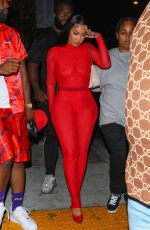 Queen Naija Sizzles in a red ensemble at Megan Thee Stallion