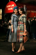 Rachel Brosnahan & Marin Hinkle Film together on the set of The Marvelous Mrs Maisel taking place in the West Village