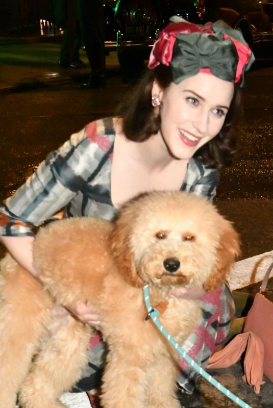 Rachel Brosnahan On the set of The Marvelous Mrs Maisel in the West Village