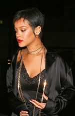 Rihanna Continues to rock her nostalgic look while out with friends at Delilah Nightclub in West Hollywood