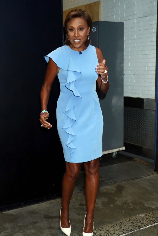 Robin Roberts Pictured outside ABC studios in New York
