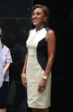 Robin Roberts Pictured outside ABC studios while filming Good Morning America in New York