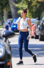 Sara Sampaio Arrives for a Pilates session wearing her favorite ensemble in Los Angeles