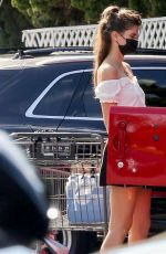 Sara Sampaio Keeps hydrated after some grocery shopping at Bristol Farms in Beverly Hills