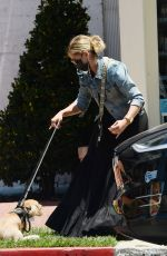 Sarah Michelle Gellar heads out shopping with her dog in Los Angeles
