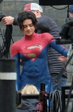"""Sasha Calle On the set of """"The Flash"""" in London"""