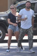 Sharna Burgess Shows some affection during a Starbucks coffee run in Malibu