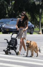 Shay Mitchell and partner Matte Babel seen out getting some fresh air in Los Feliz