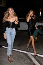 Sistine & Sophia Stallone Step out to have a friday night dinner at Catch with a few of their friends for the night in West Hollywood