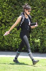 Sofia Boutella Heads home after a sweaty workout at Forma Pilates in West Hollywood