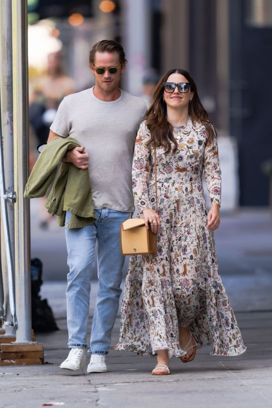 Sophia Bush and Grant Hughes are pictured stepping out in New York City