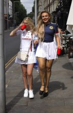 Tallia Storm Seen leaving Scotland viewing party in London