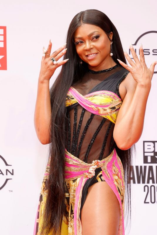 Taraji P. Henson Attends the 2021 BET Awards at the Microsoft Theater in Los Angeles