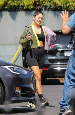 Vanessa Hudgens Hits the gym with gal pal GG Magree in West Hollywood