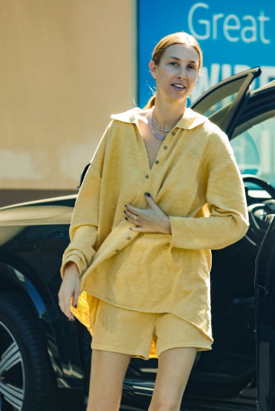 Whitney Port Gets a friend to shoot some photos of her while her son Sonny attends a karate class in Studio City