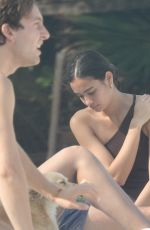 Adriana Lima In a one-piece swimsuit as she relaxes in Tulum, Mexico